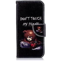 Hozor Samsung Galaxy J6 2018 cas, conception d'impression en aérosol peint, PU portefeuille en cuir Flip, avec fermeture magnétique, étui de protection avec fente pour carte/support