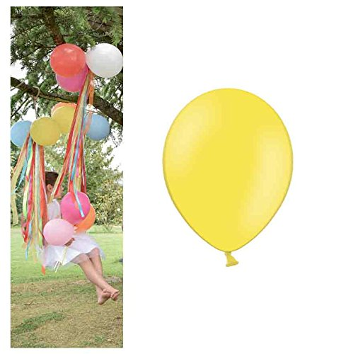 jakopabra Pastell-Luftballons 10 Stück 27 cm aus Naturlatex (zitronengelb) (Kaufen Luftballons Online)