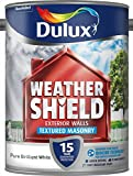 Dulux Weather Shield Textured Paint, 5 L - Pure Brilliant White