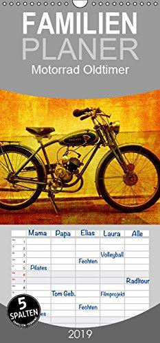 Motorrad Oldtimer - Familienplaner hoch (Kalender, FAM)