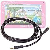 """Câble de connexion audio Jack 3,5 mm pour lecteur DVD portable AEG 400451, Takara VRT129, Lenco MES-403, DBPOWER 9.5"""", Audiosonic DV-1823 - (2 prises mâles) - DURAGADGET"""