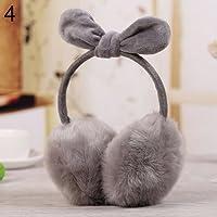 originaltree Cute Conejo Oído Orejeras Invierno Suave Warmer Earwarmers, gris