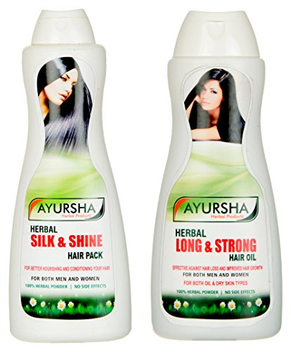 Ayursha Herbal Combo of Hair Pack and Hair Oil
