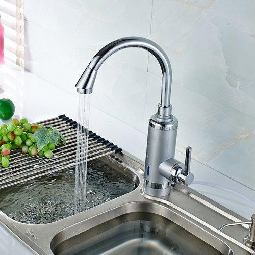 TougMoo Russland Hochwertige Küche Wasserhahn elektrische Durchlauferhitzer Instant Hot Water Faucet Eu-Stecker, Asche