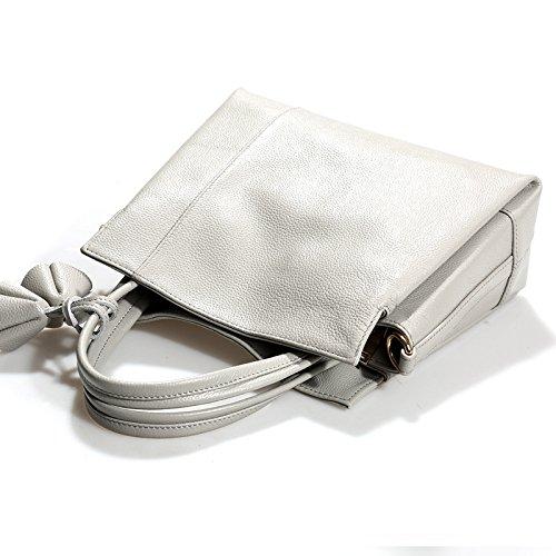 Première couche simple sac en cuir souple en cuir fashion ladies sac à bandoulière sac à main mesdames,Tan désert noir Gray