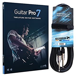 Arobas Guitar Pro 7 Notations-Software + KEEPDRUM Gitarrenkabel 6m