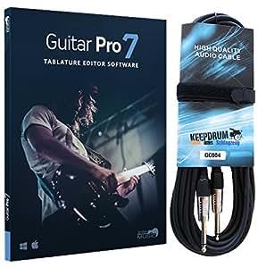 Arobas - Guitar Pro 7- Logiciel de notation - Câble de guitare Keepdrum de 6m
