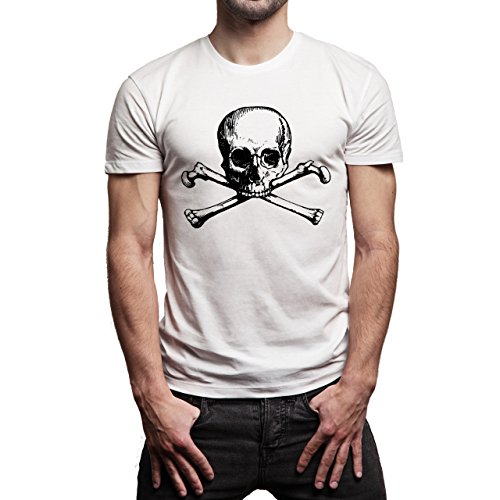 Bones Series TV Old Skull Herren T-Shirt Weiß
