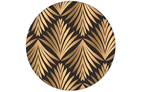"""Elegante, braune klassische Tapete \""""Art Deco Akanthus\"""" mit Blatt Muster angepasst an Little Greene Wandfarben - Vliestapete Grafisch - extravagante üppige Wanddeko - GMM Design Tapete - Wandtapete - Wand Dekoration für edle Wohnakzente (um Wände halb hoch zu tapezieren H: 1,5m B: 46.5cm)"""