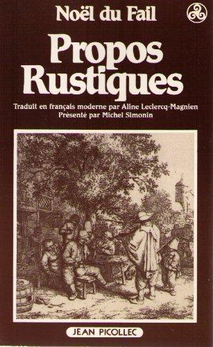 Propos rustiques, 1547