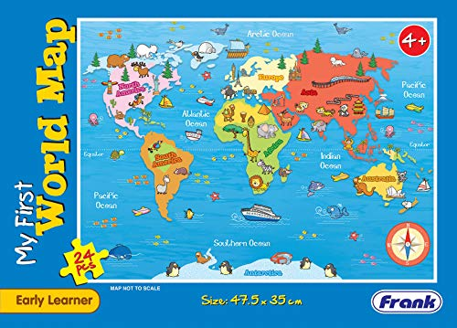 Frank  My First World Map Puzzle for 4 Year Old Kids and Above