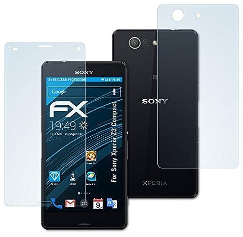 Sony Xperia Z3 Compact Schutzfolie - 3er Set atFoliX FX-Clear kristallklare Displayschutzfolie