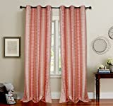 Deco Essential Curtain Dot Box Burnt Red...