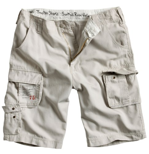Surplus Herren Shorts Trooper Off-White