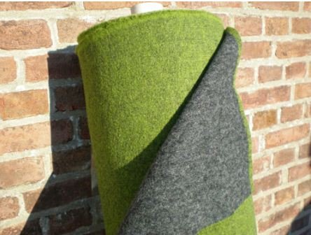 Walkloden Doubleface Stoff - grün/grau