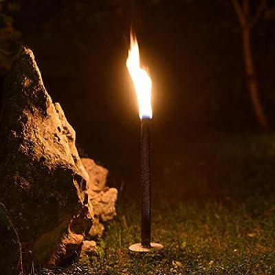 Hussala - Diamond Wachsfackeln Brennzeit 80 min Garten-Fackeln in vers. Stückzahlen (Paketangebote: 10 St. / 25 St. / 50 St. / 100 St. / 200 St.) von Hussala - Du und dein Garten