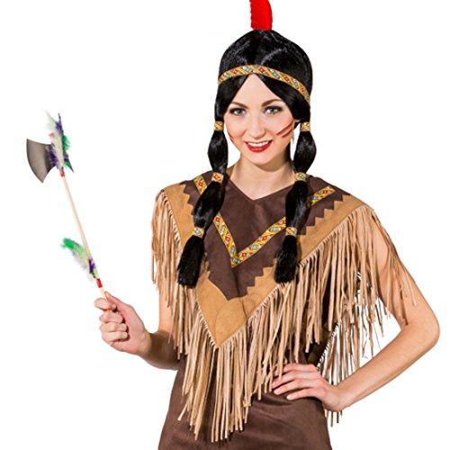 Indianer Poncho Kostüm - Amakando Umhang Indianerin Schulterumhang Squaw Fransenponcho