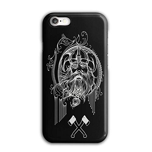 Wellcoda Wikinger Gesicht Krieger Hülle für iPhone 7 Schlacht Rutschfeste Hülle - Slim Fit, komfortabler Griff, Schutzhülle