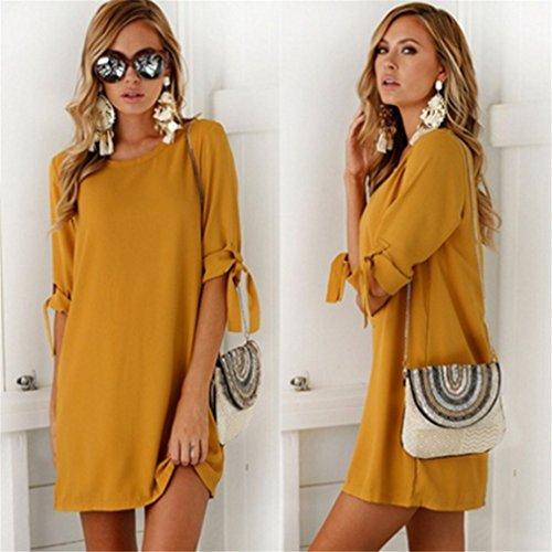 LnLyin Mode Damen Chiffon Kleid ...