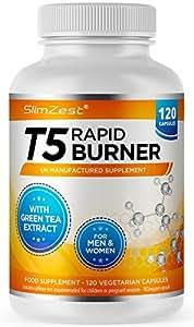 T5 Rapid Burners - Rapid Burner for Men & Women - 120 Vegetarian Capsules - UK Made - High Quality Safe and Legal - Metabolism Support - Trusted UK Brand
