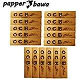 Papper Bawa Gold OCB King Size Rolling Paper Pack Of 16 Booklet (512) Leaves Assorted Hookah Flavor