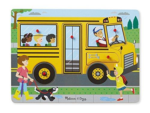 Melissa & Doug Soundpuzzle aus Holz - Die Räder vom Bus (6 Teile)