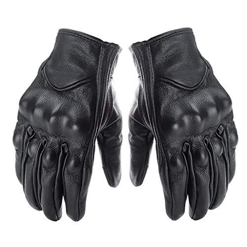 Preisvergleich Produktbild Lifet Motorrad Handschuhe Herren Vollfinger Handschuhe Touchscreen Echtes Leder für Airsoft Militär Paintball Motorrad Fahrrad und andere Outdoor Aktivitäte (L120-21cm)