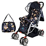 BabyGo Delight Reversible Baby Stroller and Pram with Mosquito Net; Mama Diaper Bag