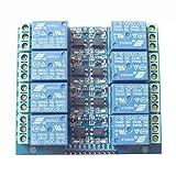 8-Kanal-Relay-Modul Optokoppler Isoliertes Relais 12V 10A Opto-Relaisplatine Erweiterungsplatine