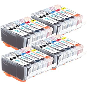 Go C-525/526-set-420Pack of Compatible Ink Cartridges Compatible with Canon Pixma multi-pack (Black, Cyan, Magenta, Yellow)