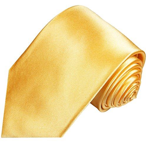 Cravate homme jaune uni 100% soie