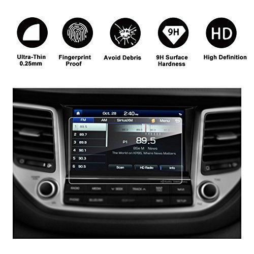 Gehärtetes Glas Schutzfolie TomTom Live 8 Zoll für das Navigationssystem von 2015 2016 2017 Hyundai Tucson II unsichtbare Displayschutzfolie Schirmfolie Glasfolie Klarsichtfolie-RUIYA