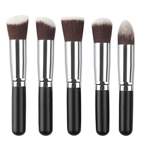 Rrimin 5Pcs New Makeup Brush Set Cosmetic Foundation Blending Pencil Brushes