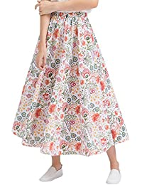 ZKOOO Estampado Floral Maxi Faldas para Mujeres Boho Larga Falda Verano  Cintura Alta Playa Skirts Elegante f502ac9c23f3