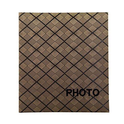 FOOHAO- Broderie Insert Business Album, Album de la Famille Creative Tartan, 160 Photos -7 '' (7x5 '' Photos) (Couleur : White pages)