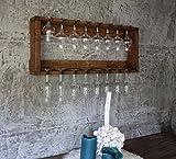 dekorie67 Gläser Regal passend zum Wein Regal aus Holz braun