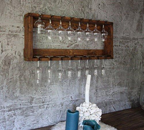 dekorie Gläser Regal passend zum Wein Regal aus Holz braun
