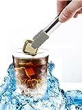 Grandekor Whisky Steine, Edelstahl Whisky Eiswürfel Ice Cubes 6er Set ohne Zangen für Cocktail Wein Getränke Würfel in Gold