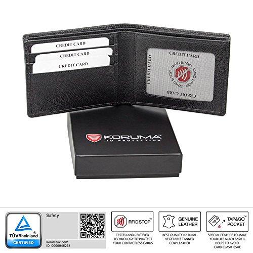 KORUMA RFID Schutz Leder Geldbeutel (93NBL)
