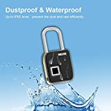 #4: Newest Licensed FingerPrint Pad Lock for Door (Smallest, Durable and low voltage charging)