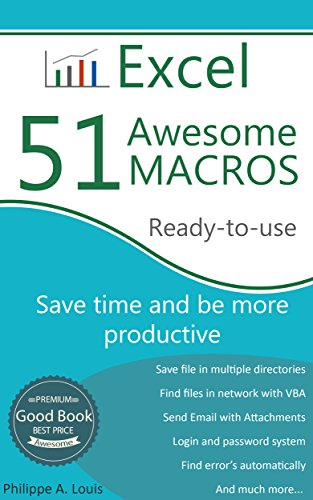 Excel - 51 Awesome Macros: Save Time and Be More Productive
