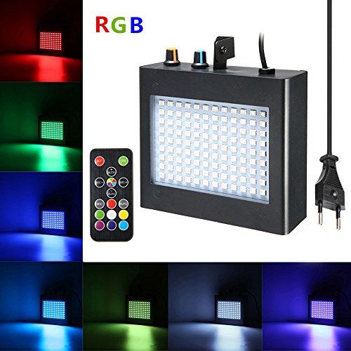 Strobe Light,SOLMORE 108 LEDs Stroboskop Disco Strobe Bühnenbeleuchtung Musikgesteuert mit RF-Fernbedienung für Party Hochzeit Stadium