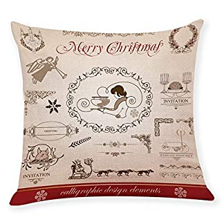 adeshop christmas cushion covers 18 x 18inch, xmas ornaments, christmas home decor cushion cover graffi style throw pillowcase pillow covers ADESHOP Christmas Cushion Covers 18 X 18Inch, Xmas Ornaments, Christmas Home Decor Cushion Cover Graffi Style Throw Pillowcase Pillow Covers 51bTN90 2B4fL