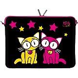 Kitty to Go LS144-13 Love Dreams Designer Schutzhülle für Laptops und MacBooks mit einer Bildschirmdiagonale von 33,8 cm (13,3 Zoll) pink-schwarz - gut und günstig