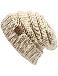 Fliegend Homme Femme Bonnet Tricoté Chapeau Slouch Beanie Coton Calotte  Chapeau D hiver De Fine 0e3eccb4318