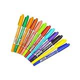 cloudwhisper 12pcs/Set Art Marker mit doppelter Spitze Marker-Stift für Malerei Gemälde DIY Handwerk
