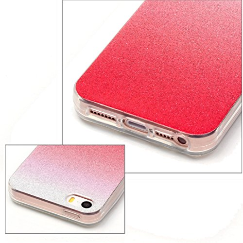 iPhone Case Cover Pour iPhone 5 & 5s & SE IMD Couleurs Fades Glitter Poudre TPU Étui de protection ( SKU : IP5G9966C ) IP5G9966E