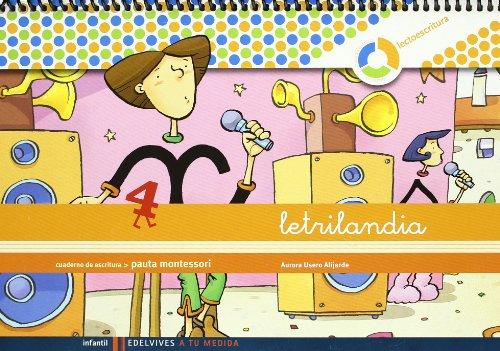 Letrilandia Lectoescritura cuaderno 4 de escritura (Pauta Montessori) (A tu medida (entorno lógica matemática)) - 9788426371423 por Aurora Usero Alijarde