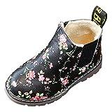 Martin Sneaker Impression Hiver Enfants, QinMM Rétro Mode Zipper Garçons Filles Épais Neige Bébé...