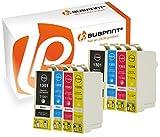 Bubprint 8 Druckerpatronen kompatibel für Epson T1301 - T1304 für Stylus SX525WD SX535WD SX620FW Office B42WD BX525WD Workforce WF-3520DWF WF-7515